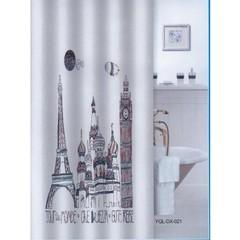 Шторка для ванной тканевая Zalel Аrchitecture 180х180 см, с фотопринтом