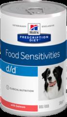 Ветеринарный корм для собак с аллергическими реакциями Hill`s Prescription Diet d/d Canine Salmon Formula, с лососем