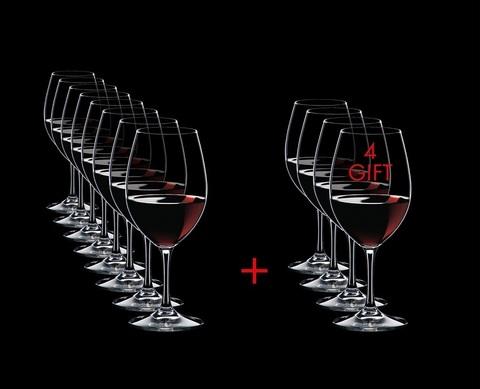 Набор из 12-и бокалов для вина  Red Wine Pay 8 Get 12 350 мл, артикул 7408/00. Серия Ouverture
