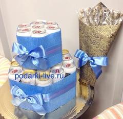 Торт из пива и букет из воблы П15-08