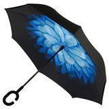 Зонт наоборот Цветок голубой сделан так, что теперь вы сможете легк...
