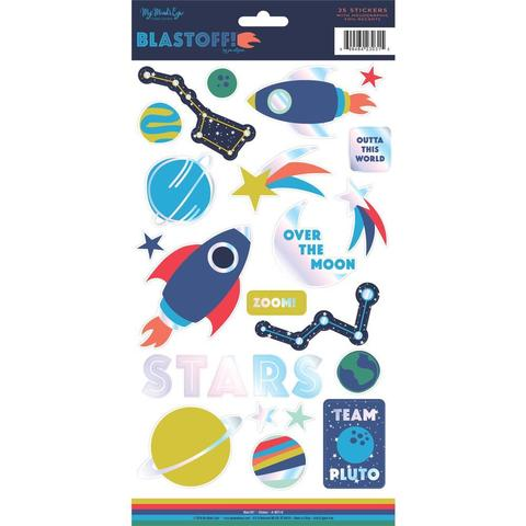 Стикеры 15х 30 см - Blastoff Stickers от MME- 25 шт.