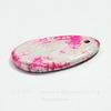 Подвеска Агат Крэкл (тониров) (цвет - бело-розовый) 52х33х6,1 мм №14