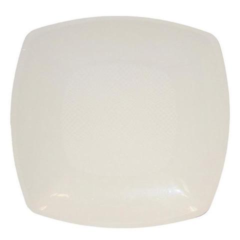 Тарелка одноразовая квадратная глубокая белая 18 см ПП 12 шт/уп