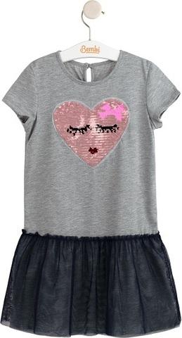 ПЛ230 Платье для девочки (пайетки - перевертыши)
