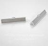 Концевик для лент 35 мм (цвет - серебро), 4 штуки