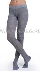 Термоколготки из шерсти мериноса Norveg Multifunctional Grey Melange подростковые