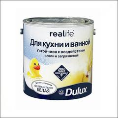Краска для Кухни и ванной Dulux Realife (Белый)
