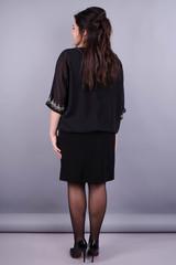 Алмаз. Изысканное женское платье плюс сайз. Черный.