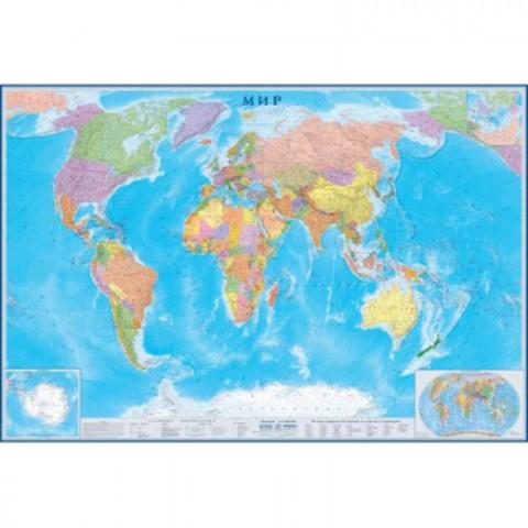 Настенная карта Мир 2,33х1,58м 1:15млн политическая