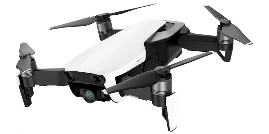 Квадрокоптер DJI MAVIC AIR Fly More Combo (EU) Arctic White, Белый сбоку