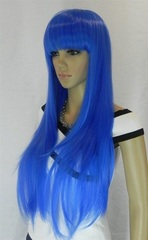 Cosplay Wigs Long Straight Blue