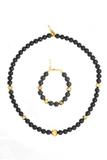 Комплект Arlecchino Lungo Nero (ожерелье, браслет)