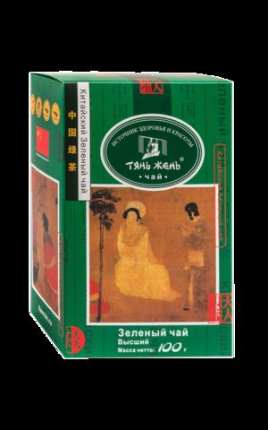 Чай Тянь Жень китайский зеленый листовой 100 гр