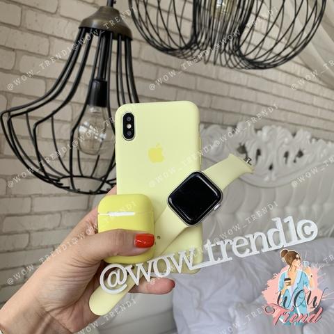 Чехол iPhone XS Max Silicone Case /mellow yellow/ волшебно-желтый original quality