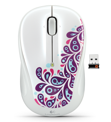 LOGITECH M325 Wireless White Paisley