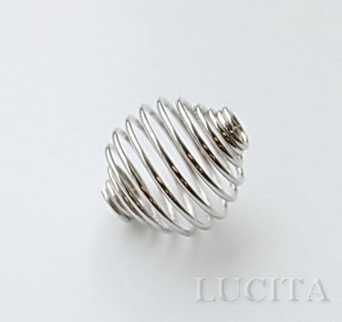 "Пружинка ""ловушка для бусин"" (цвет - античное серебро) 15х14 мм"