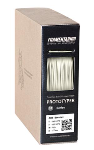 Пластик Filamentarno! ABS-Standart. Белый, 1.75 мм, 750 гр