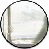 Зеркало настенное круглое в раме hub D94 см большое чёрное Umbra 358370-040 | Купить в Москве, СПб и с доставкой по всей России | Интернет магазин www.Kitchen-Devices.ru
