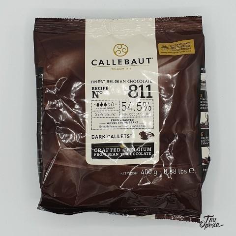 Бельгийский темный шоколад (таблетки) 54.5% Barry Callebaut, 400 гр