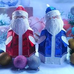 Дед Мороз блестящий 30 см (ночник)