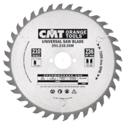 Пильный диск СМТ универсальный 270x30x2,8/1,8 15° 15° ATB Z=42
