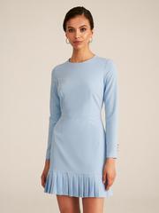 Платье с плиссировкой мини