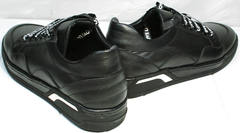 Черные кеды с черной подошвой женские Rifelini by Rovigo 121-1 All Black