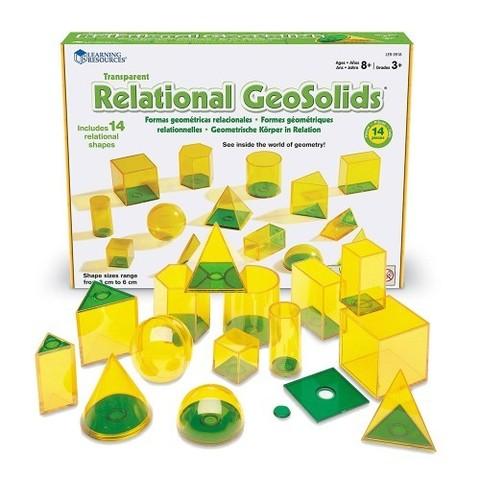 Набор объемных геометрических фигур Взаимосвязи, 14 шт. Learning Resources