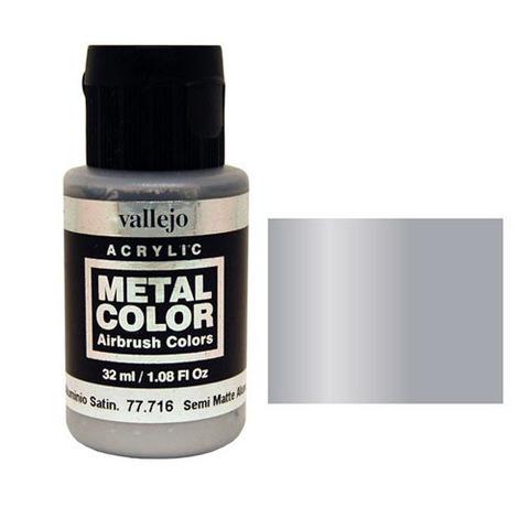 716 Краска Metal Color Полу-матовый Алюминий (Semi Matte Aluminium) укрывистый, 32 мл