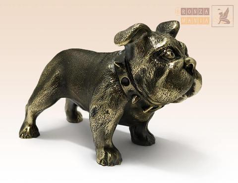 статуэтка Собака Бульдог английский в ошейнике