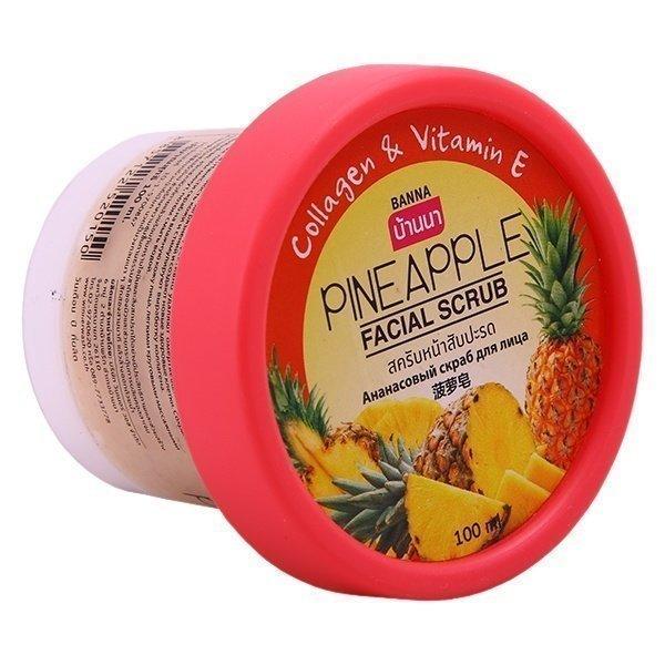Banna Скраб для лица с Ананасом Pineapple Facial Scrub, 100 мл