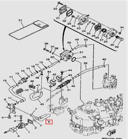 Шланг для лодочного мотора F5 Sea-PRO(9-6)