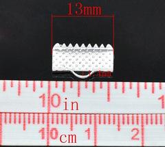 Зажим 6х8 мм серебро