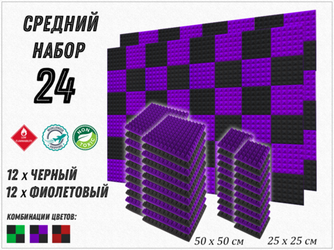PIRAMIDA 30 violet/black  24   pcs  БЕСПЛАТНАЯ ДОСТАВКА