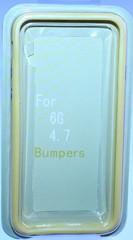 Бампер силиконовый для iPhone 6 ЖЕЛТЫЙ