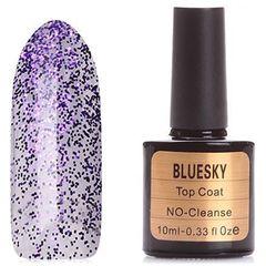 Bluesky, Топ для гель-лака с фиолетовыми блестками, 10 мл (Purple)