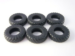 Tire 6 pieces KI-115A for ZIL-157 1:43 Start Scale Models (SSM)