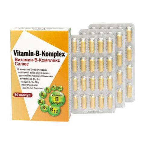 САЛЮС ВИТАМИН-В-Комплекс, 60 капсул по 380 мг