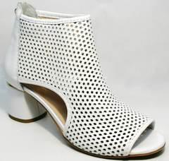 Модные ботильоны ботинки с открытым носком Magnolya 3503 56-3 SummerWhite