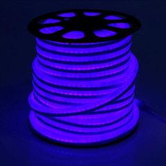 Гибкий неон 15*25 мм, светодиодный | Синий - 25м