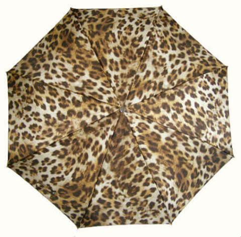 Зонт женский складной Pasotti Leopardo