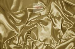 Ткань метражом Silky (золото) люкс-сатен однотонный