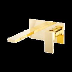 Смеситель Migliore Kvant Gold 25396 ДЛЯ РАКОВИНЫ НАСТЕННЫЙ, золото