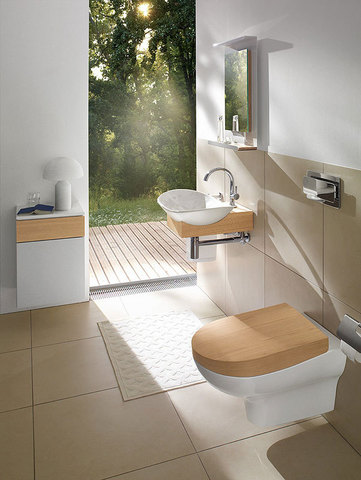 Унитаз подвесной Villeroy & Boch My Nature 5610 10R1 alpin
