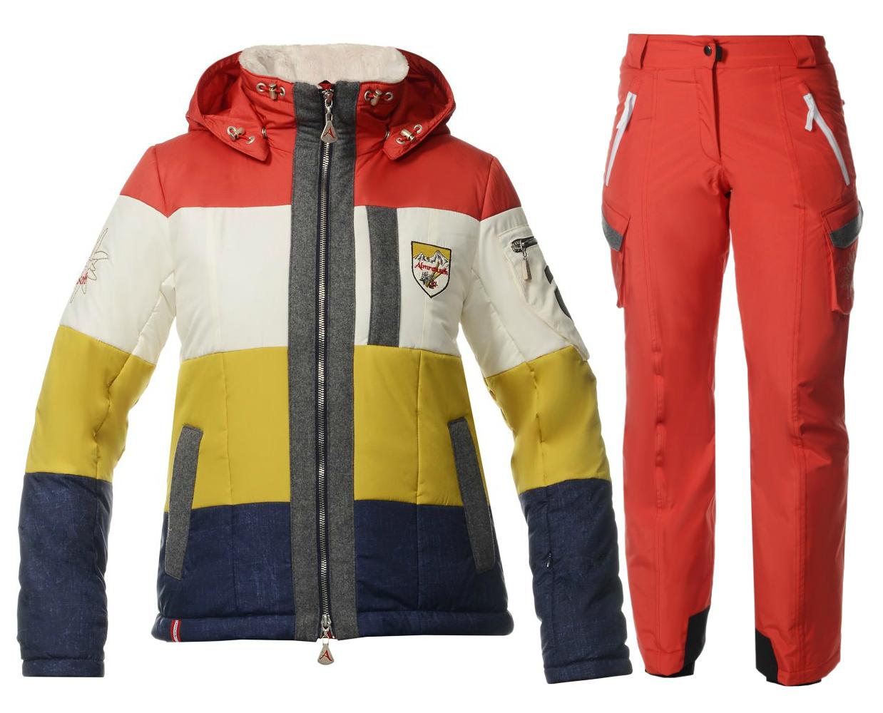 Женский горнолыжный костюм Almrausch Steinberg-Hochegg красный фото