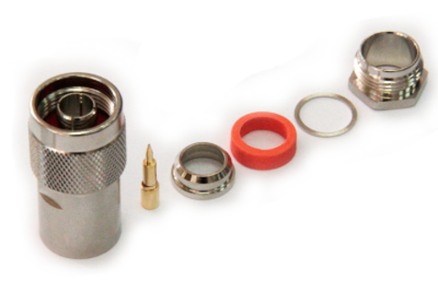 Разъем прижимной N-112C-5D-вилка (Закрутка, цанга)