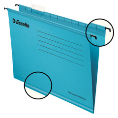 Подвесная регистратура папки Esselte Classic, 205 гр, А4, синий 90311 25шт