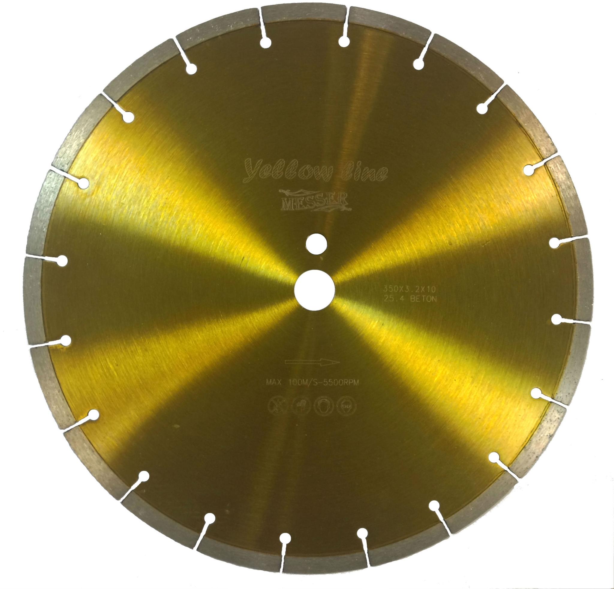 Алмазный диск по бетону 350х25,4 MESSER Yellow Line