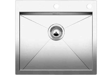 Кухонная мойка Blanco ZEROX 550-IF/А, клапан-автомат, нержавеющая сталь